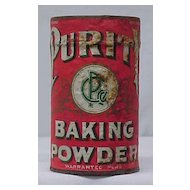 1930s Purity Baking Powder Tin - Unopened