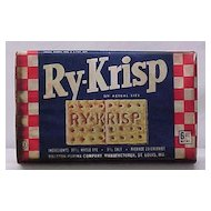 1940s Ry-Krisp Cracker Box - Unopened
