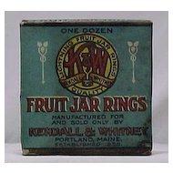 1920s Box of Kendall & Whitney Fruit Jar Rings - Unused