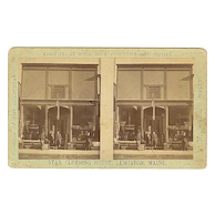 Lewiston, Maine Stereoview Star Clothing Store Front Close-Up