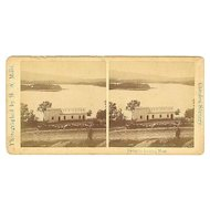 Camden, Maine Lake House on Lake Megunticook Stereoview by Mills