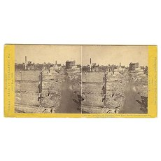 Portland, Maine 1866 Great Fire Stereoview by Soule