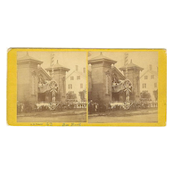 Bucksport, Maine Torrent Engine Fire House Stereoview by Emery