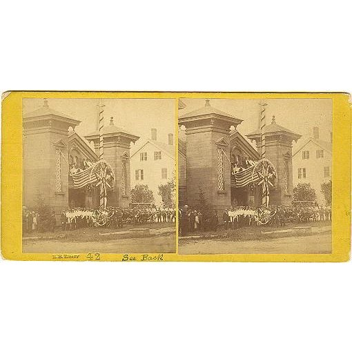 Bucksport maine torrent engine fire house stereoview by for Classic house torrent