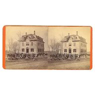 Norridgewock, Maine Stereoview Eaton School - 1880 Spring Term