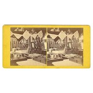 Elmwood, Rhode Island Interior A&W Sprague's Store Stereoview by Manchester Bros