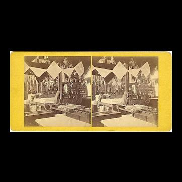 Elmwood, Rhode Island Interior A&W Sprague's Store Stereoview by Manchester Bros