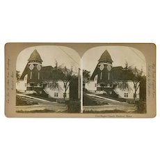 Rumford, Maine First Baptist Church Stereoview by Abbot