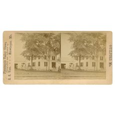 Guilford, Maine Farm or Residence Stereoview by Vose
