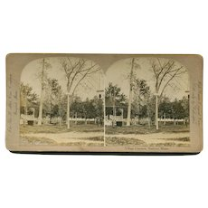 Andover, Maine Village Common & Church Stereoview by Abbot