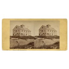 Bartlett, New Hampshire Mt Kearsarge House Stereoview by Pease
