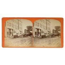 Leominster, Massachusetts Packard & Co Storefront Stereoview by Davis