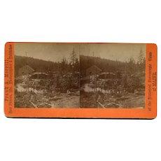 Sandy River Plantation (near Rangeley), Maine Sawmill Stereoview by Morrill