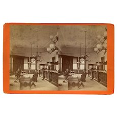 Rockland, Maine Custom House Interior Stereoview by Armbrust