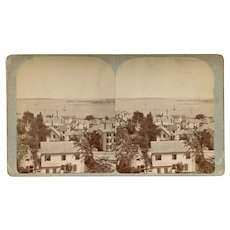 Portland, Maine Panorama Southeast from the Observatory Stereoview by King