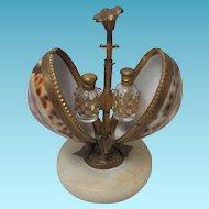 ANTIQUE ETUI FRENCH Perfume Seashell w/ Star of David; Original 19th Century