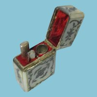5pc Mother-of-Pearl & Silver ETUI; Antique c1750