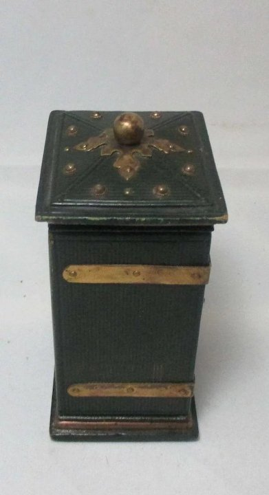 18pc Leather Storage Box LADYu0027s COMPANION, Inside Back Wall Is Mirrored To  Reflect A Stunning