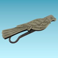 Victorian  Folding Button Hook in Shape of Bird; Excellent Antique Condition c1870's