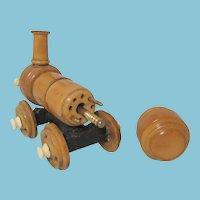 Victorian Wooden Train Shaped CROCHET CASE  plus BONUS  TAMBOUR  W/ extra hooks ; Original Antique c1800's