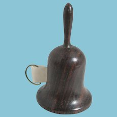 Rosewood BELL shaped figural TAPE MEASURE; Antique c1890's