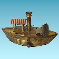 Antique Metal Boat TAPE Measure