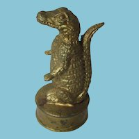 Rare  Antique ALLIGATOR Tape Measure