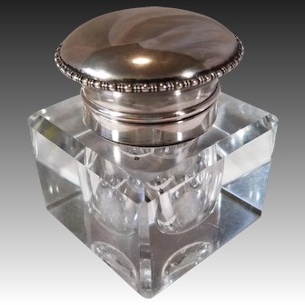 British Sterling Silver Hallmarked Georgian Ink Well