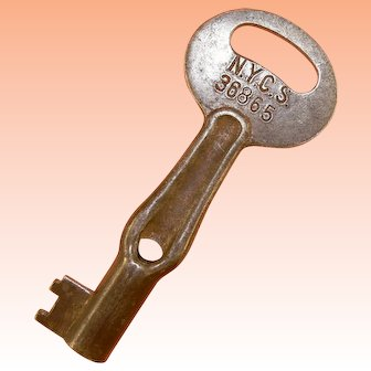 "NYCS New York Central System Railroad ""Oiler"" ""Moon"" Steel Key"