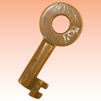 NYCS New York Central System Railroad Tool House Brass Key