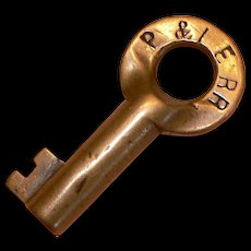Pittsburgh and Lake Erie Railroad, Vintage, Brass Key