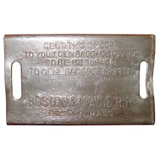 Boston & Maine RR Baggage Check, Luggage Tag