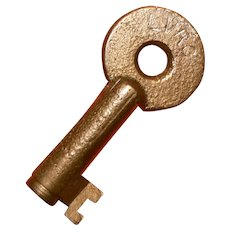 LVRC Lamoille Valley Railroad Company Brass Switch Key, Adlake