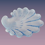 1940s Duncan and Miller Sanibel Blue Opalescent Salad Plate