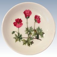 Minton Meadow Bone China Geranium Ashtray