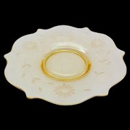 Lancaster Jubilee Topaz Yellow Depression Era Glass Salad/Dessert Plate