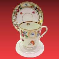 Schumann Bavaria Dresdner Art 9815 Demitasse Cup and Saucer