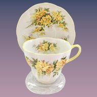 Royal Albert Laburnum Bone China Teacup and Saucer Blossom Time Series