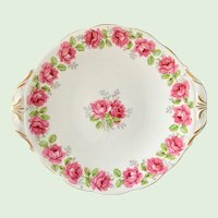 Lady Alexander Rose Bone China Two Handled Serving Plate Bell China/Queen Anne