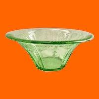 Hocking Princess Green Depression Glass Hat Shaped Serving Bowl
