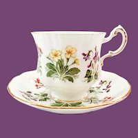 Paragon Bone China English Flowers IA/D Teacup and Saucer