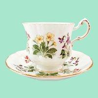Paragon Bone China English Flowers IA/D Teacup and Saucer