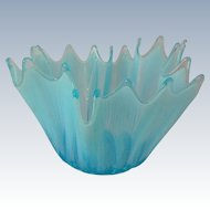 Fostoria Heirloom Ice Blue Opalescent 7 inch Glass Bowl