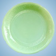 Alice Jadeite Dinner Plate Anchor Hocking 1940s