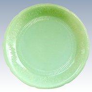 Alice Jadeite Glass Dinner Plate Anchor Hocking 1940s