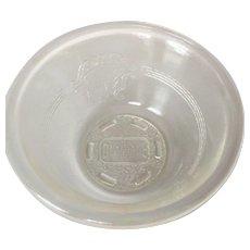 McKee Glass Vintage GlasBake Patterned Custard Cups Set of Four