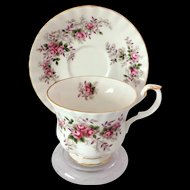 Royal Albert Bone China Lavender Rose Teacup and Saucer