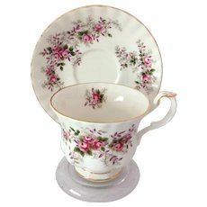 Royal Albert Bone China Lavender Rose Teacup and Saucer
