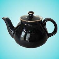 Hall New York Shape Black and Gold Teapot