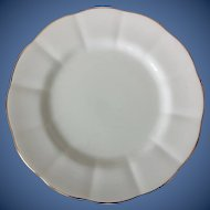 Royal Albert Bone China Countess White Luncheon Plate Gold Trim